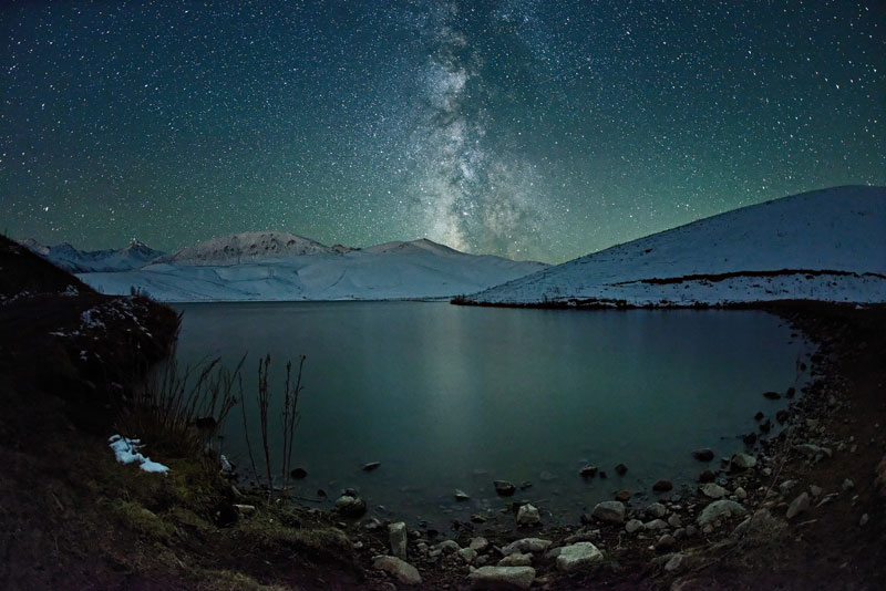 Kazahkstan Beautiful Night Sky