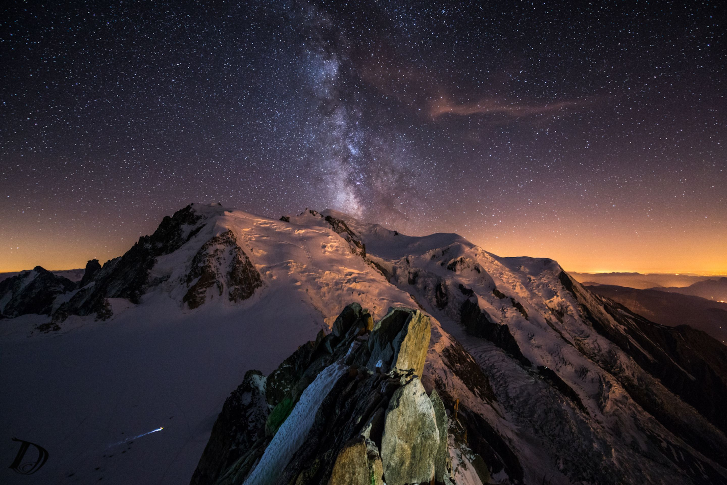Italy Beautiful Night Sky Mountain