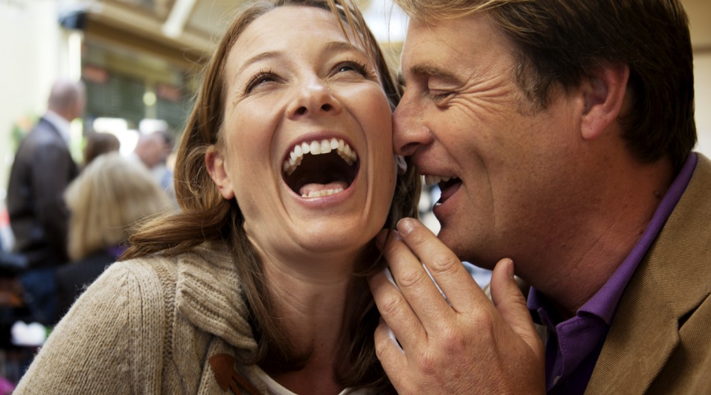 Laughing Positive Couple