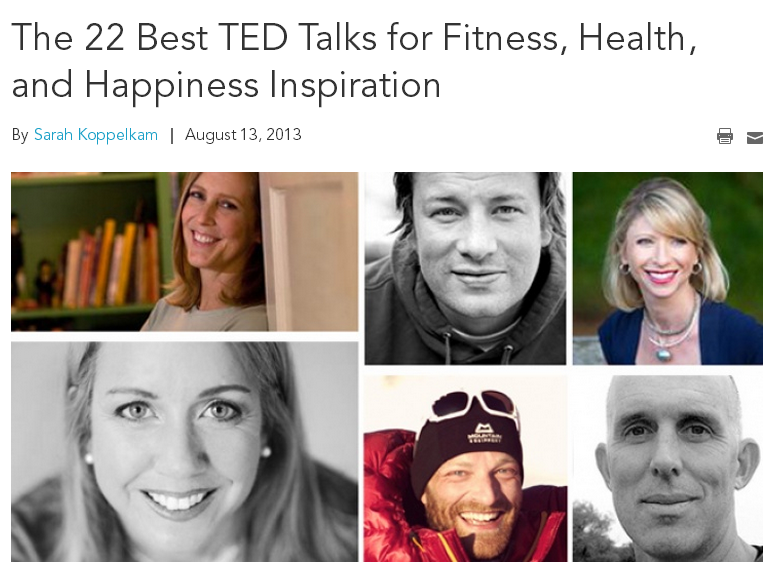 Best TED Talks for Fitness, Health and Happiness Inspiration